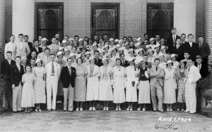 Young People's Sunday School Class - April 1, 1934